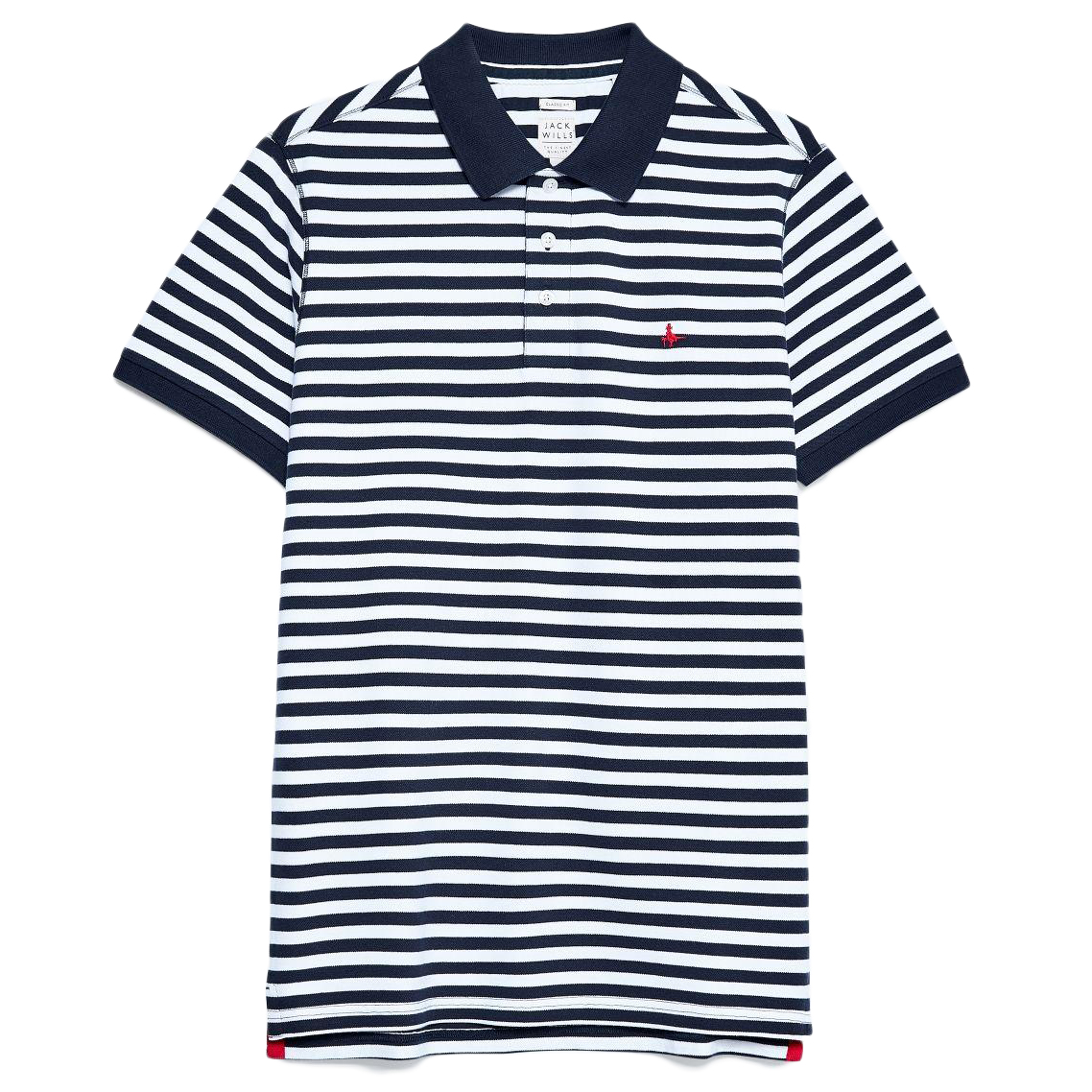 Jack Wills Men's Milford Fine Stripe Polo - Black, L