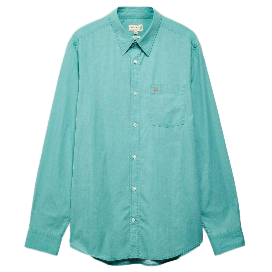 Jack Wills Men's Lawshall Vintage Wash Shirt - Green, XL