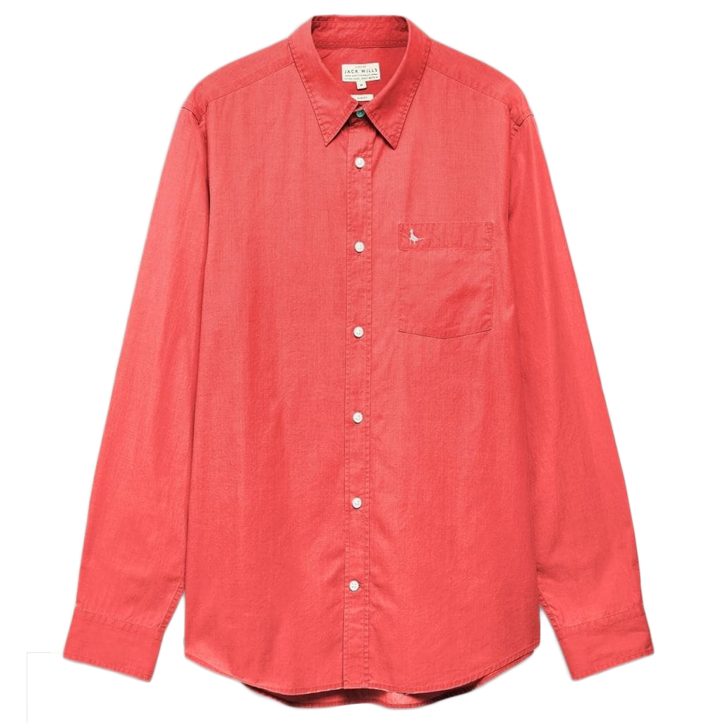 Jack Wills Men's Lawshall Vintage Wash Shirt - Red, L