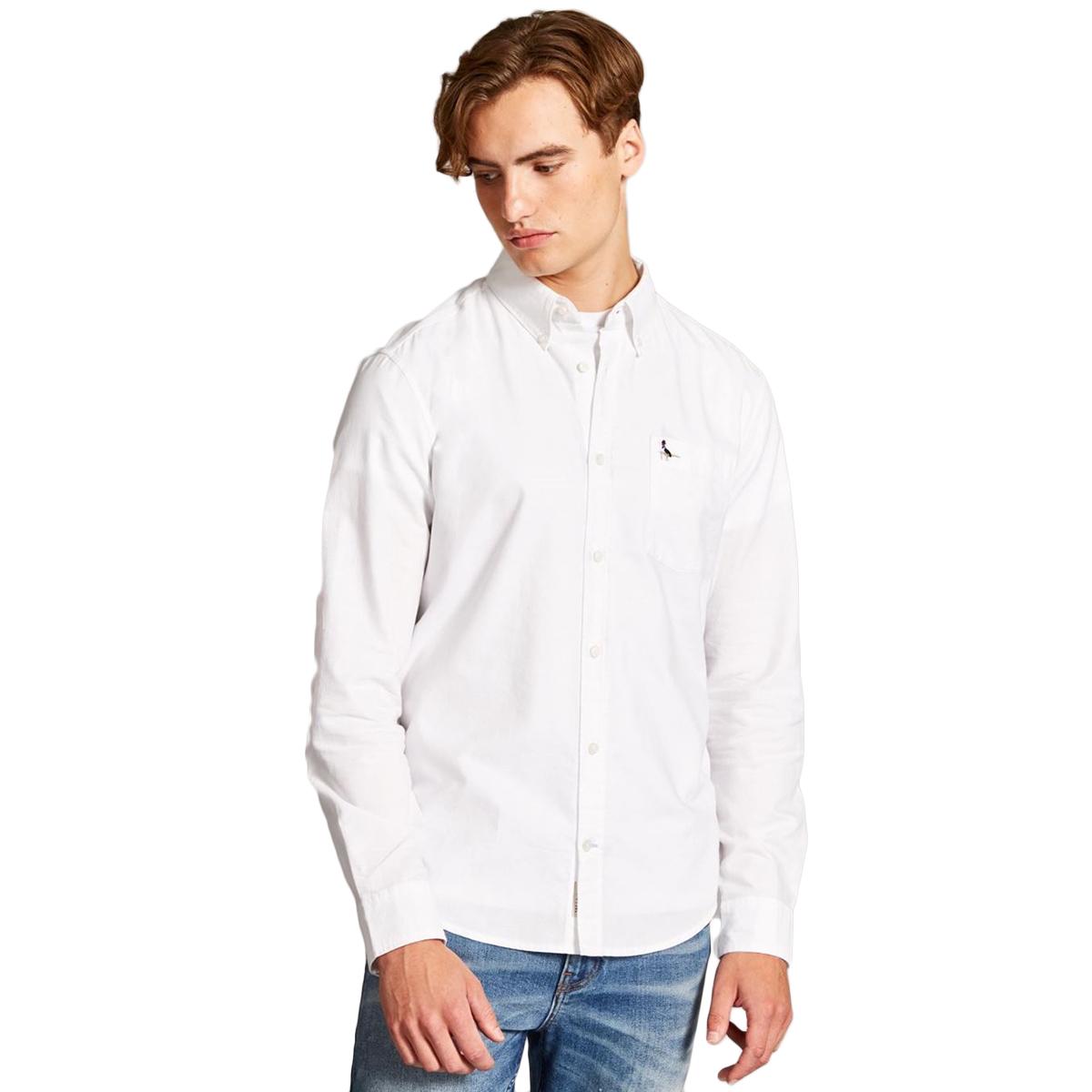 Jack Wills Men's Wadsworth Plain Oxford Shirt - White, L