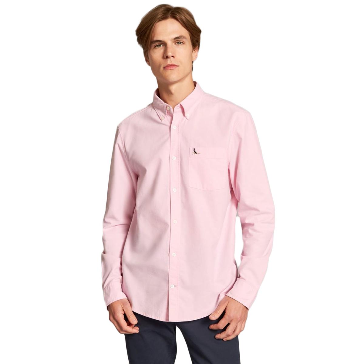 Jack Wills Men's Wadsworth Plain Oxford Shirt - Red, L