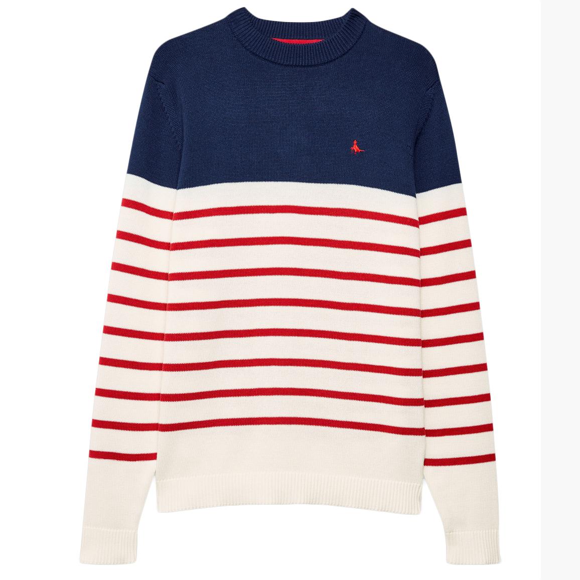 Jack Wills Men's Elwick Knitted Stripe Sweater - Black, S
