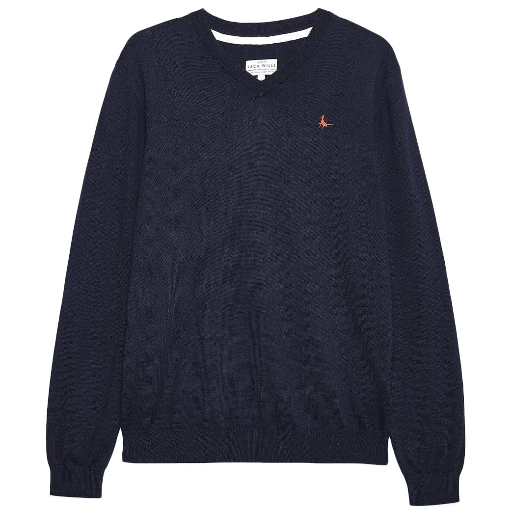 Jack Wills Men's Seabourn V-Neck Sweater - Black, L