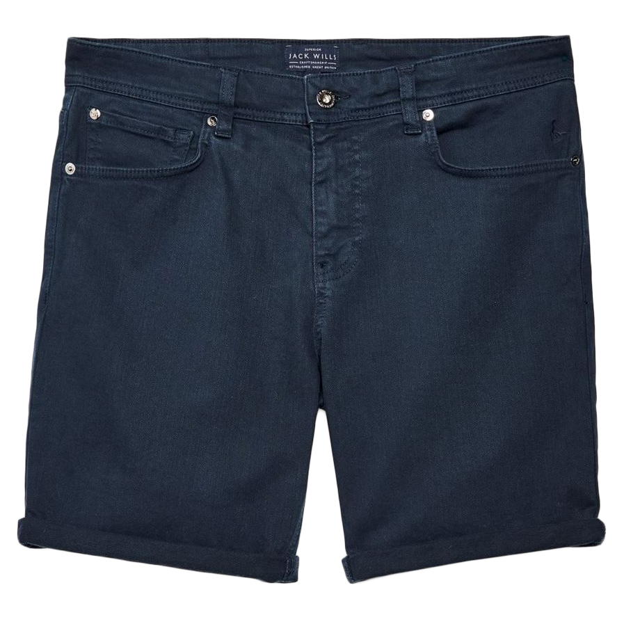 Jack Wills Men's Colwyn Five Pocket Shorts - Black, 28/R