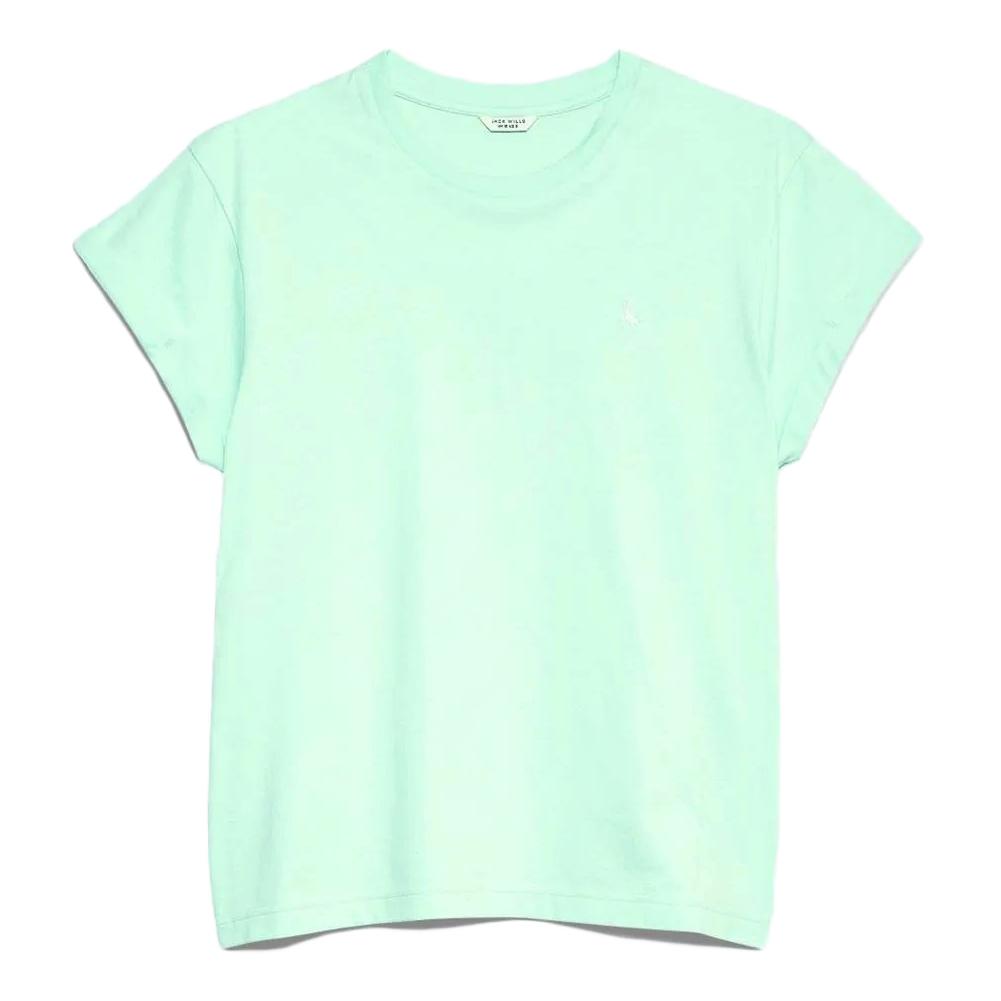Jack Wills Women' Endmoor Boyfriend T-Shirt - Green, 2