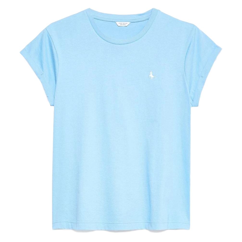 Jack Wills Women' Endmoor Boyfriend T-Shirt - Blue, 10