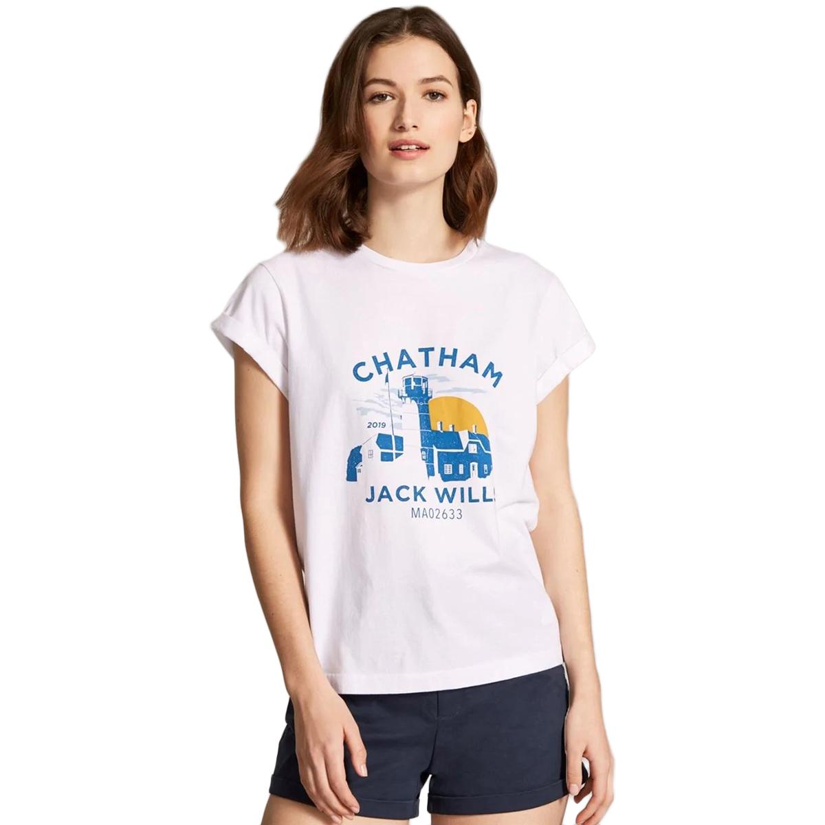 Jack Wills Women's Forstal Chatham Short-Sleeve Tee - White, 10