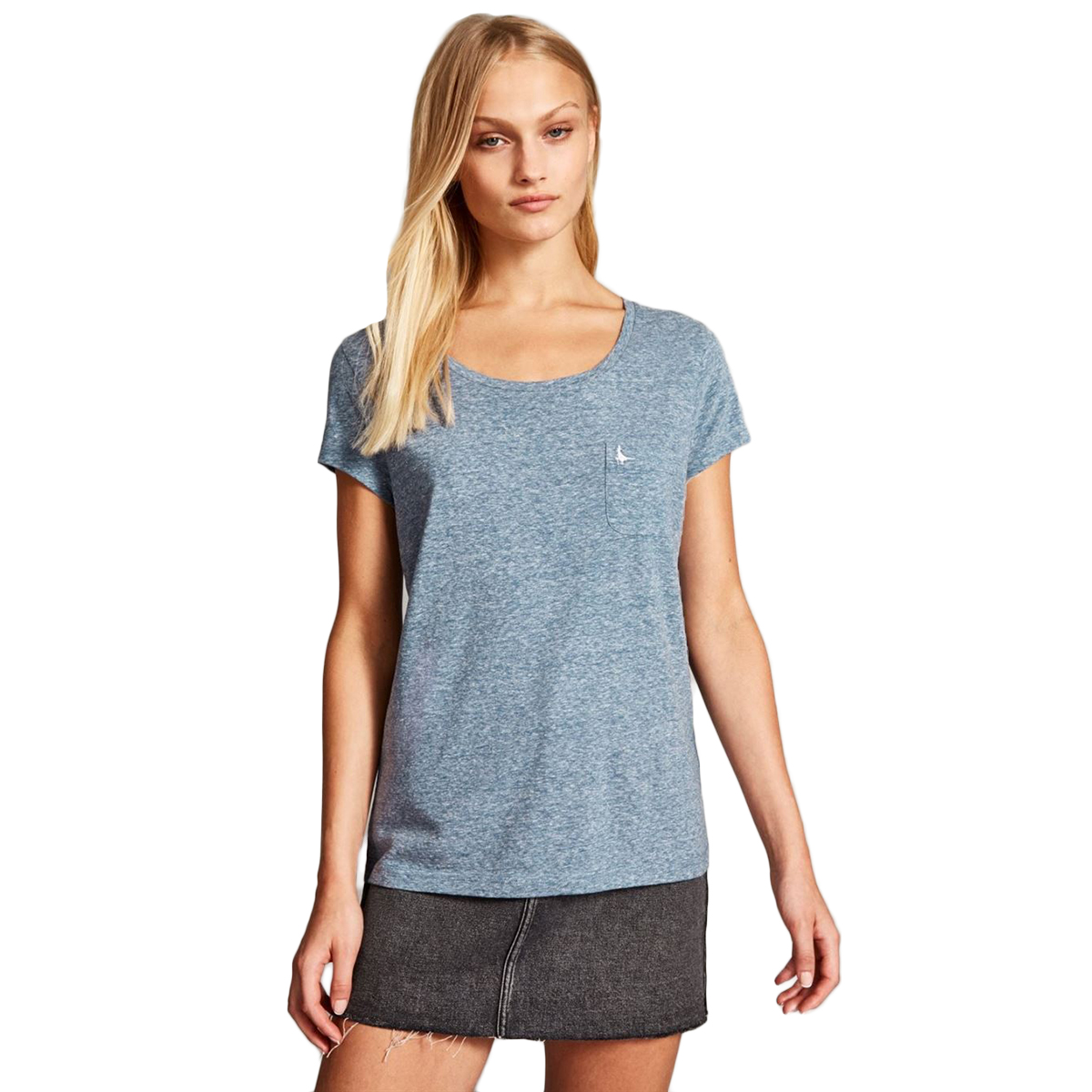 Jack Wills Fullford Classic Short-Sleeve Pocket Tee - Blue, 0