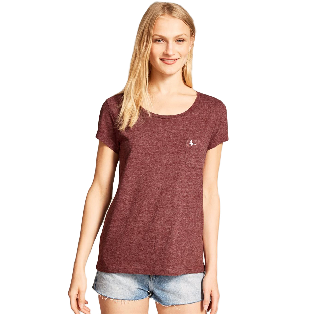 Jack Wills Fullford Classic Short-Sleeve Pocket Tee - Red, 0