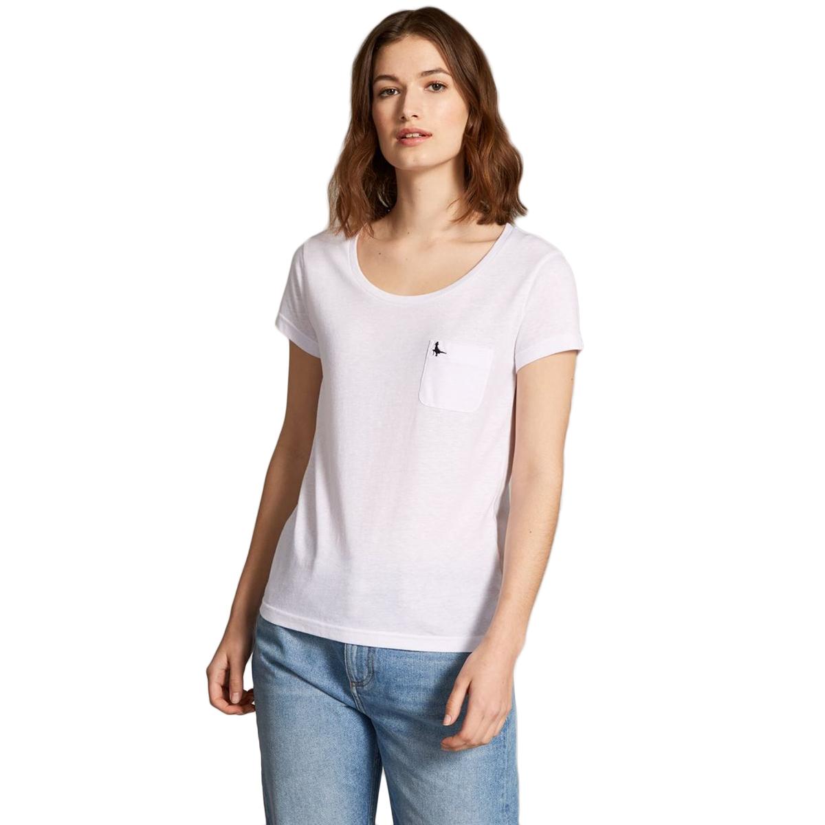 Jack Wills Women's Fullford Short-Sleeve Tee - White, 12