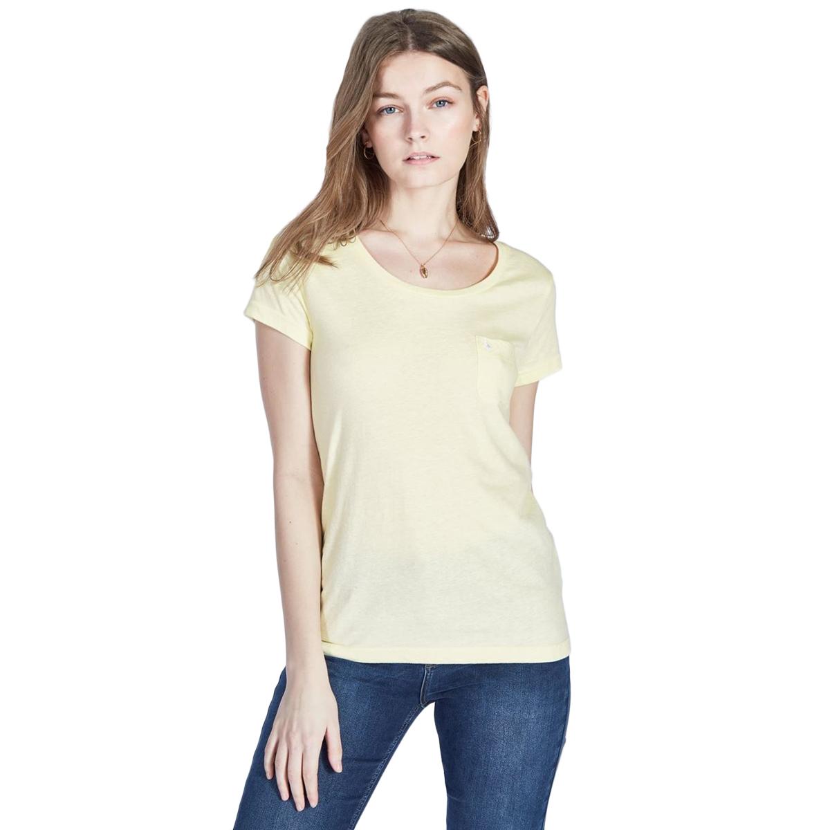 Jack Wills Women's Fullford Short-Sleeve Tee - Yellow, 8