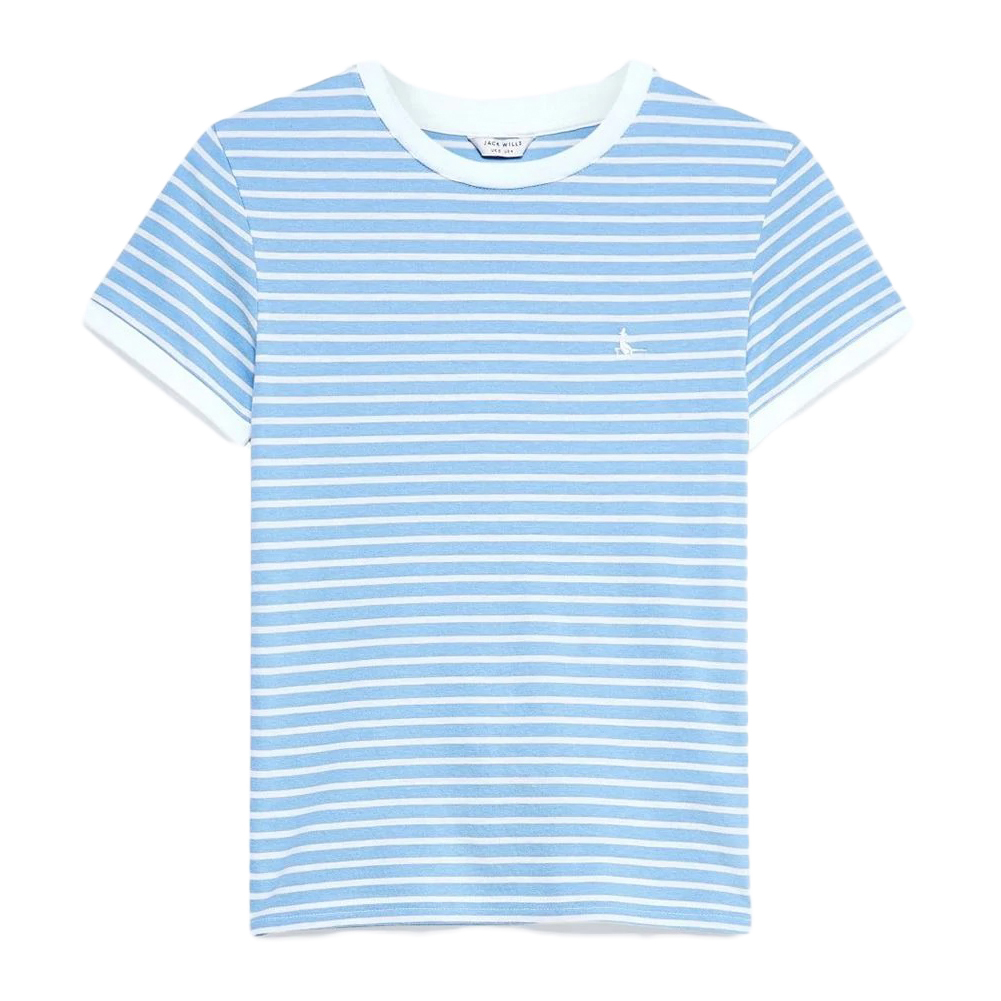 Jack Wills Women's Hasley Stripe Ringer T-Shirt - Blue, 10