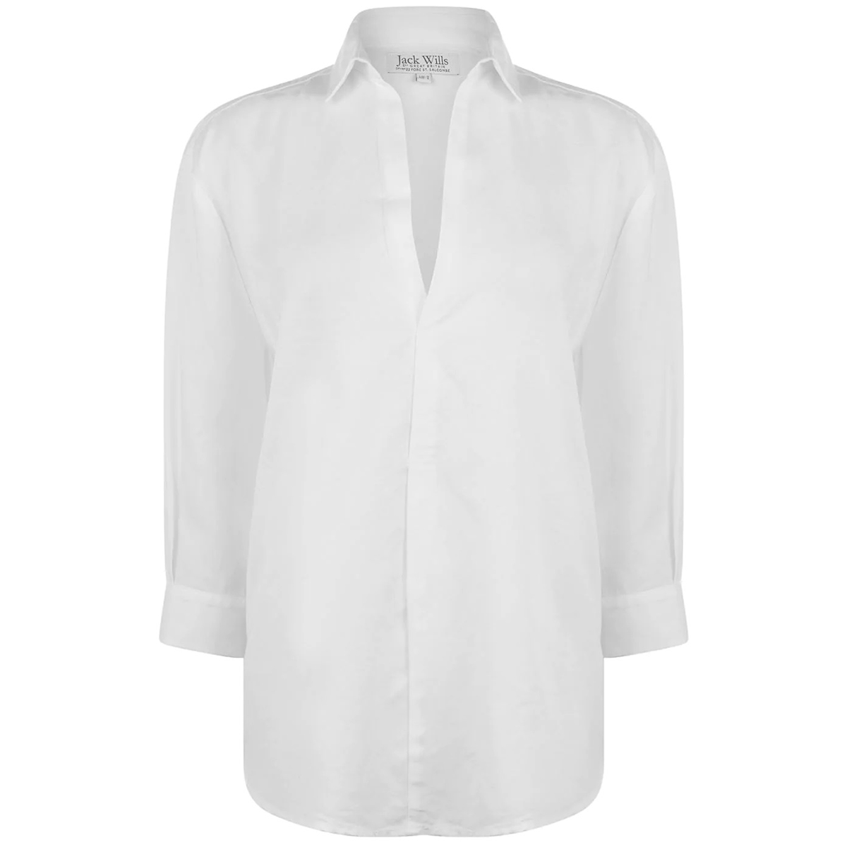 Jack Wills Women's Southcote Casual Long-Sleeve Shirt - White, 12