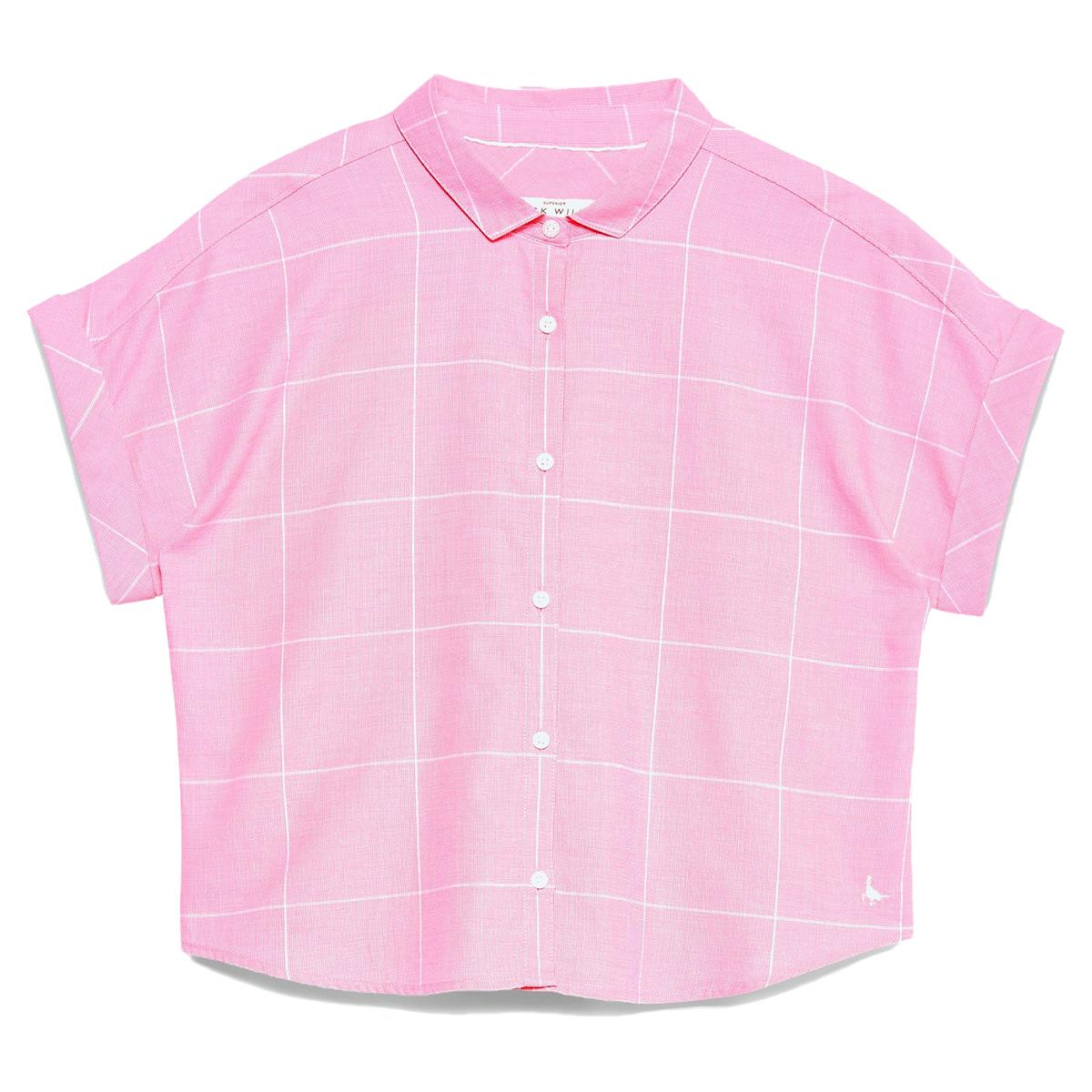 Jack Wills Women's Stowell Stripe Dolman Sleeve Shirt - Red, 10