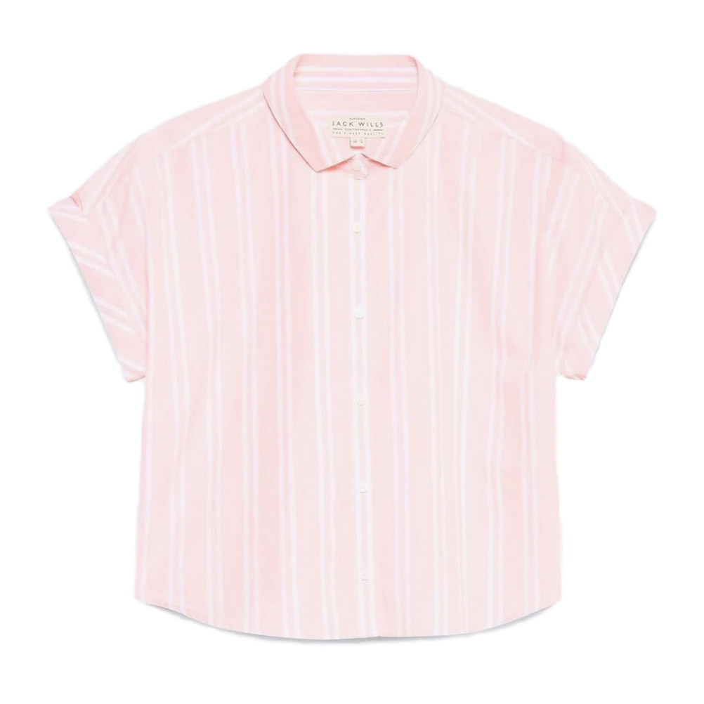 Jack Wills Women's Stowell Stripe Dolman Sleeve Shirt - Red, 6