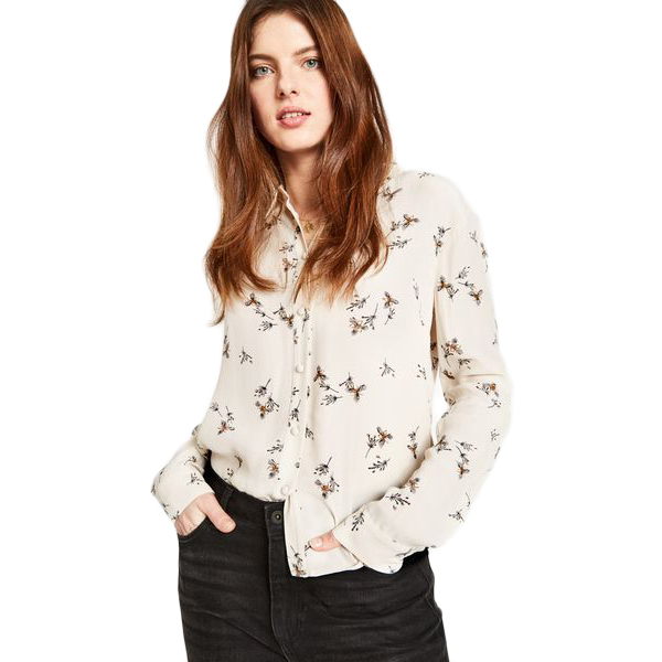 Jack Wills Women's Wadley Printed Shirt - White, 4