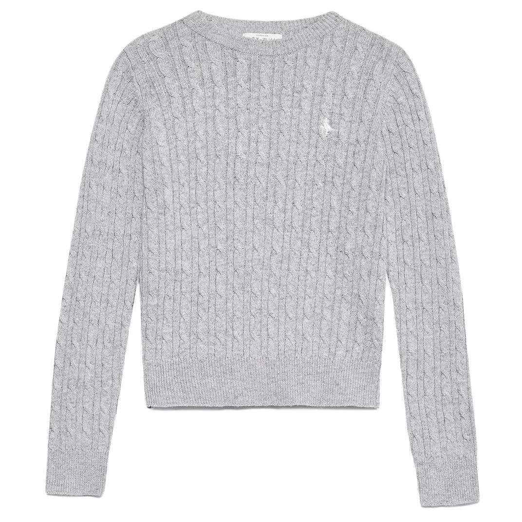 Jack Wills Women's Heritage Cable Crewneck Sweater - Black, 12