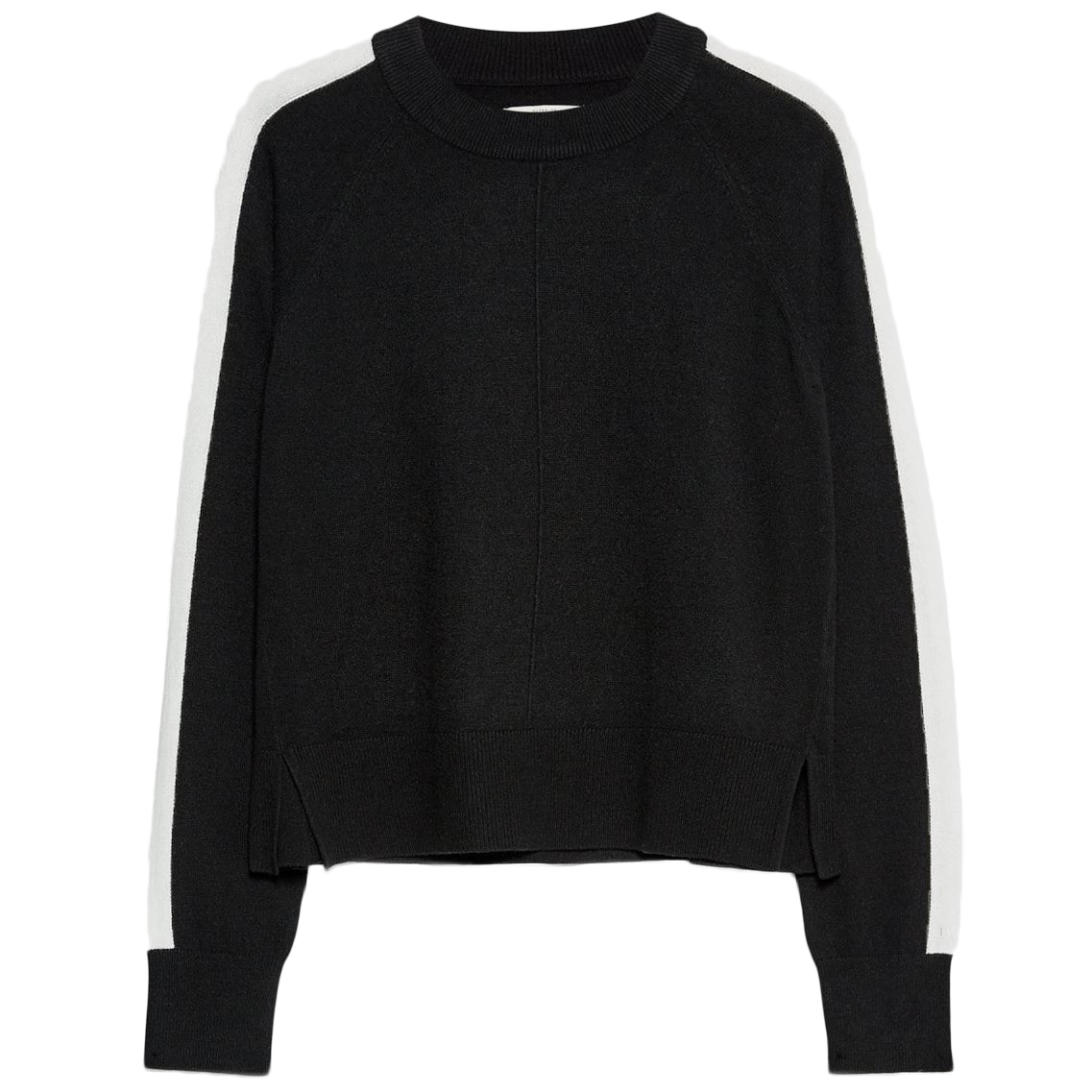 Jack Wills Women's Holyroyd Contrast Stripe Crewneck Sweater - Black, 10