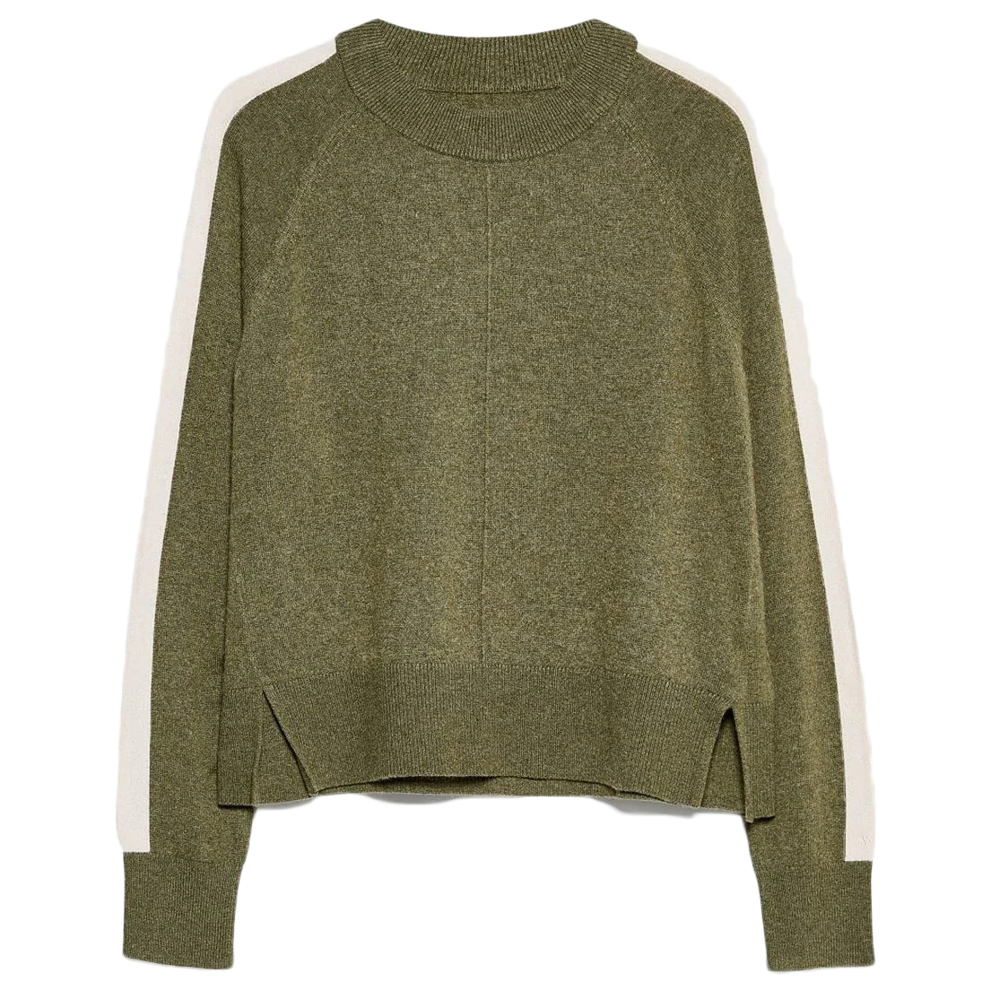 Jack Wills Women's Holyroyd Contrast Stripe Crewneck Sweater - Green, 10