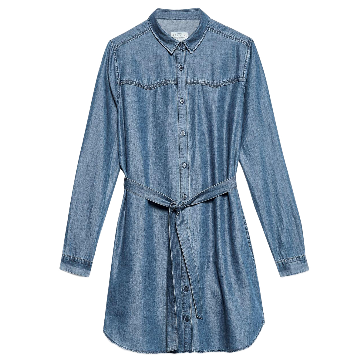 Jack Wills Women's Barnhills Chambray Shirt Dress - Blue, 2