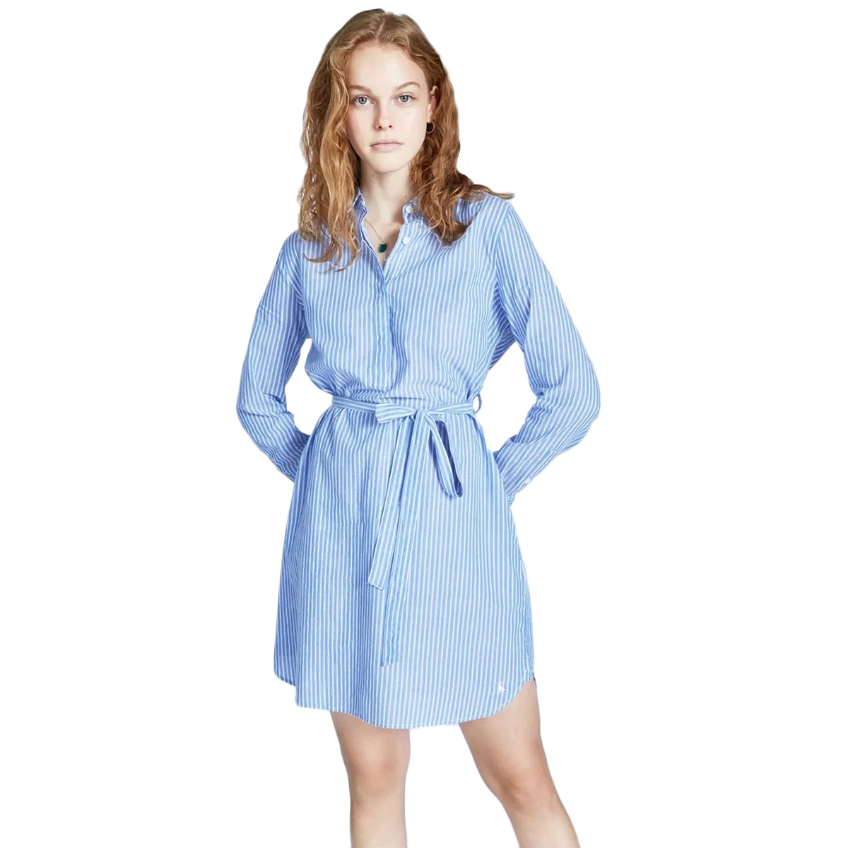 Jack Wills Women's Chelseawood Stripe Button Shirt Dress - Blue, 10