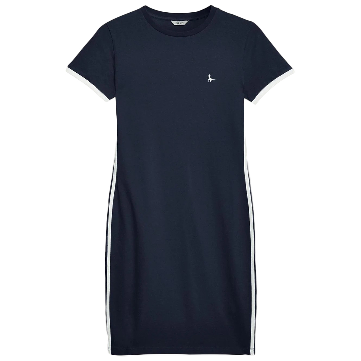 Jack Wills Women's Goodrington Side Stripe Ringer Dress - Black, 10