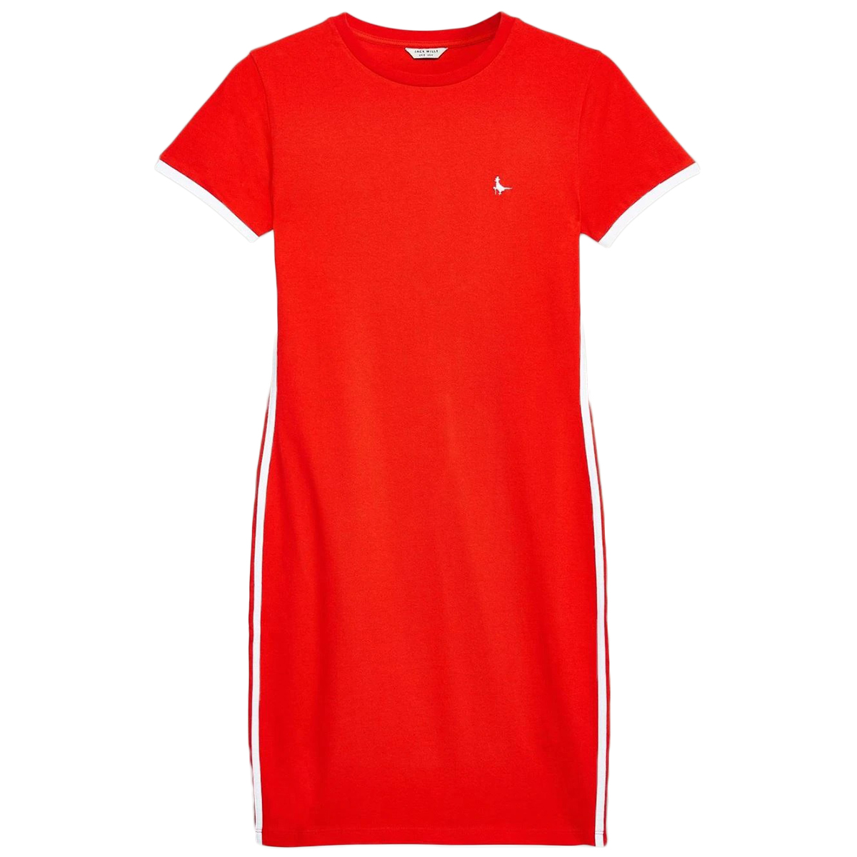 Jack Wills Women's Goodrington Side Stripe Ringer Dress - Red, 10