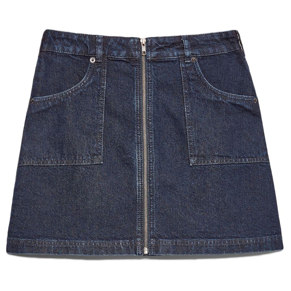 Jack Wills Women's Chartham Full Zip Denim Skirt - Blue, 6
