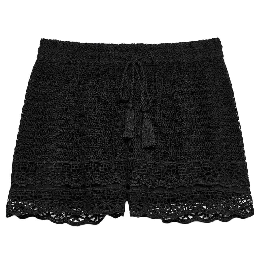 Jack Wills Women's Henriette Crochet Shorts - Black, 8
