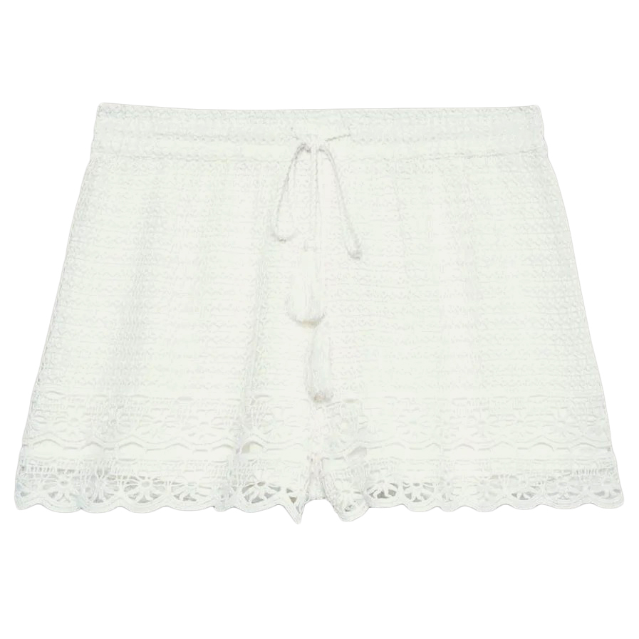 Jack Wills Women's Henriette Crochet Shorts - White, 8