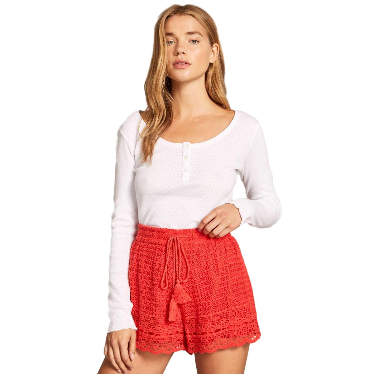Jack Wills Women's Henriette Crochet Shorts - Red, 6