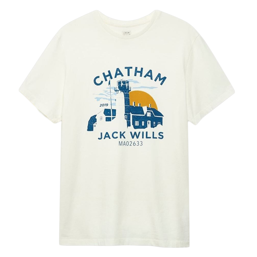 Jack Wills Men's Chatham Location Short-Sleeve Tee - White, L