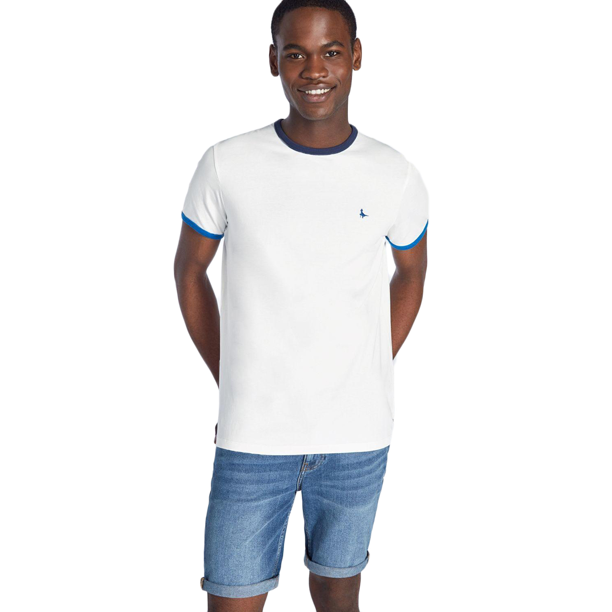 Jack Wills Men's Chilton Ringer T-Shirt - White, L