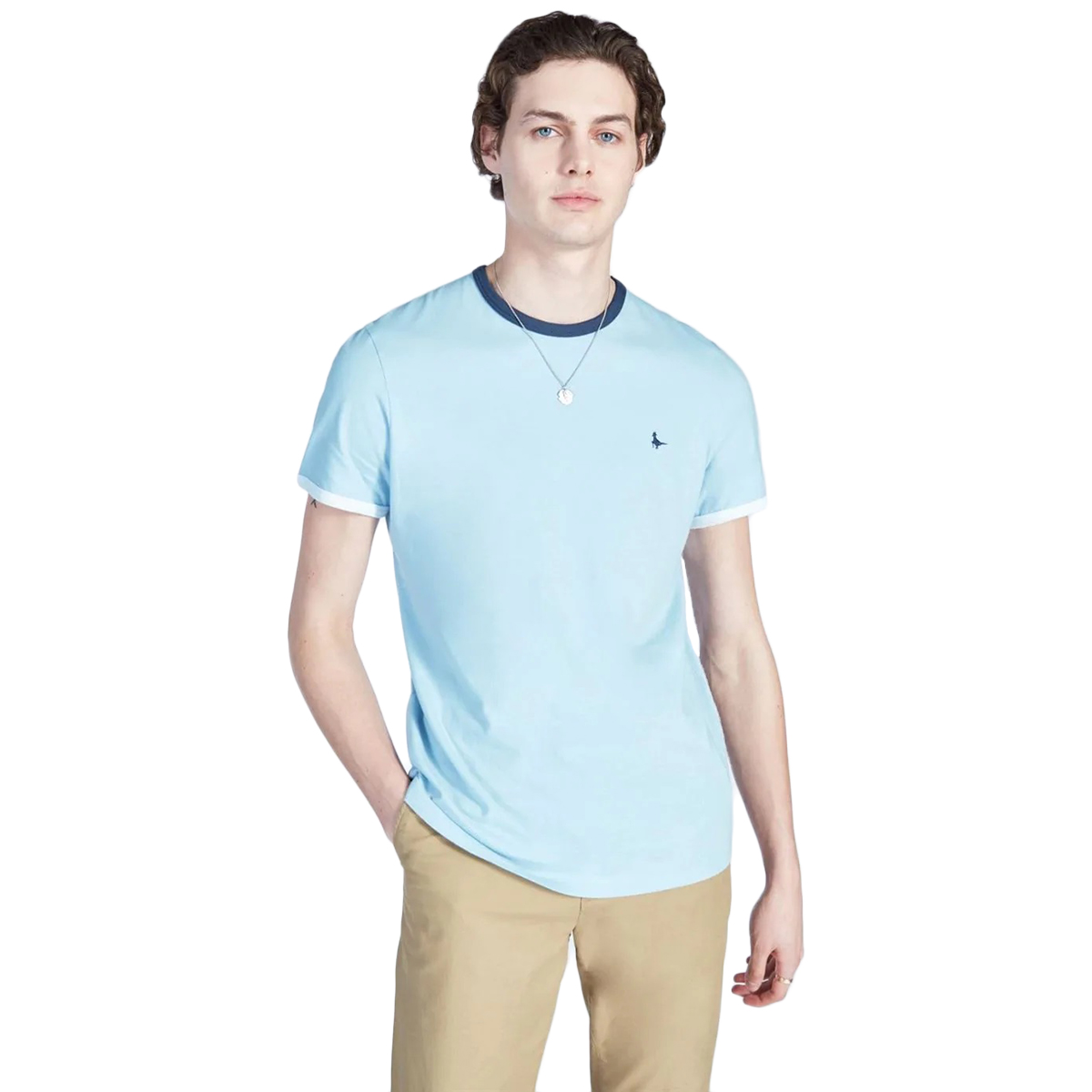 Jack Wills Men's Chilton Ringer T-Shirt - Blue, L