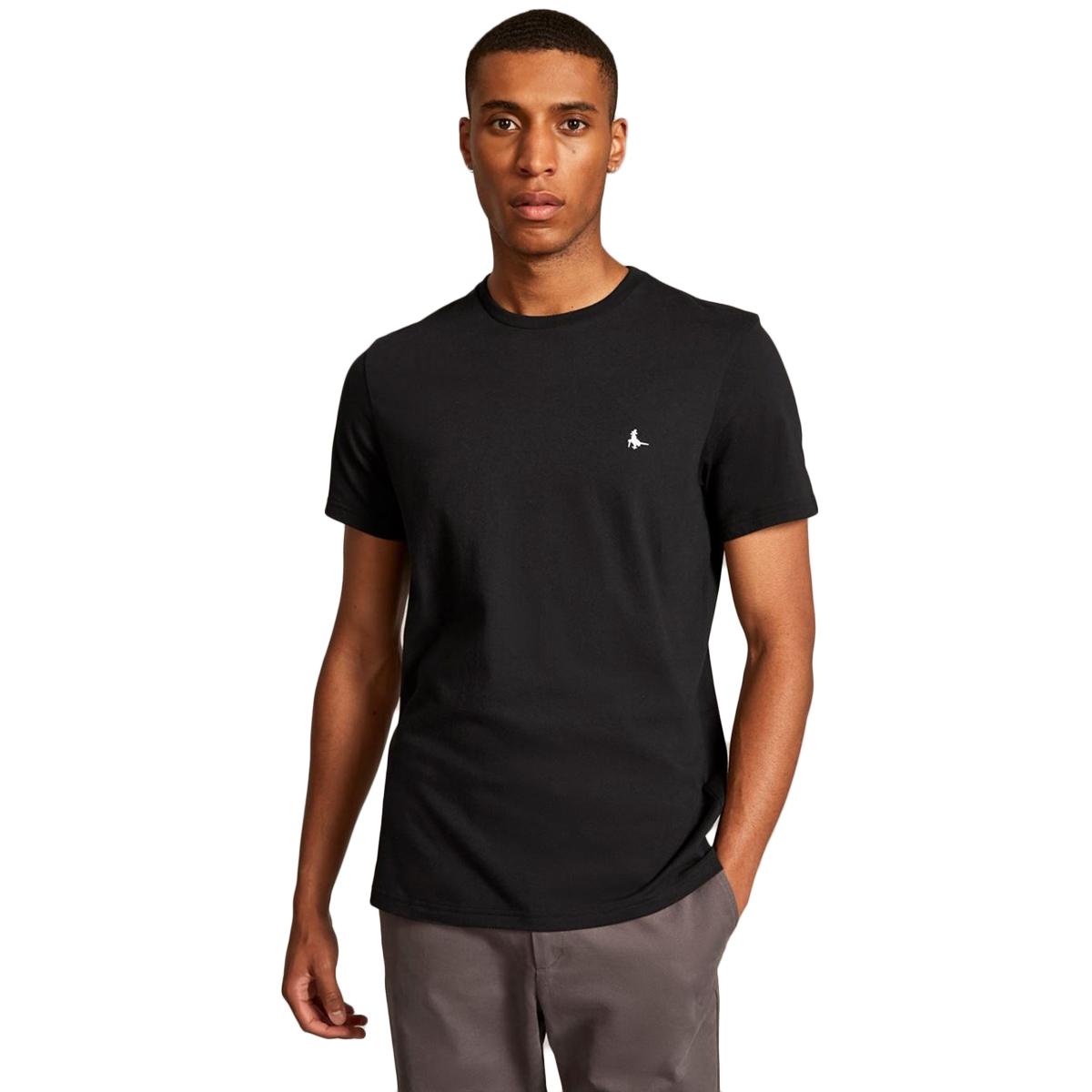 Jack Wills Men's Sandleford Basic Short-Sleeve Tee - Black, L