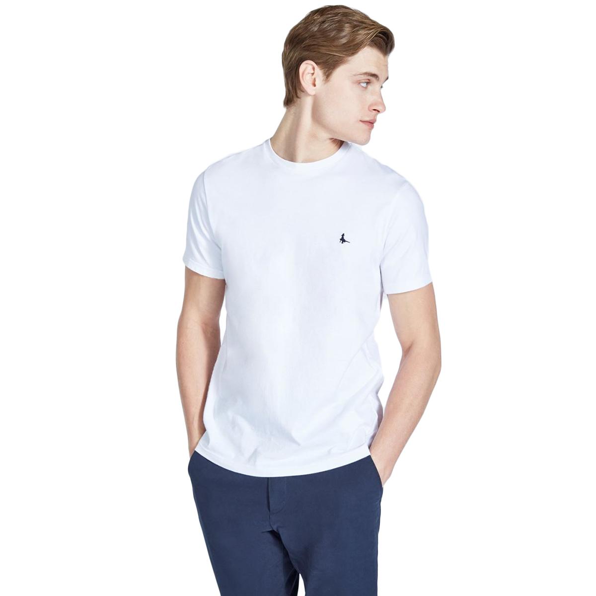 Jack Wills Men's Sandleford Basic Short-Sleeve Tee - White, XXS