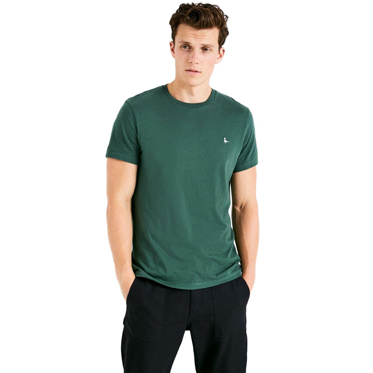 Jack Wills Men's Sandleford Short-Sleeve Tee - Green, M