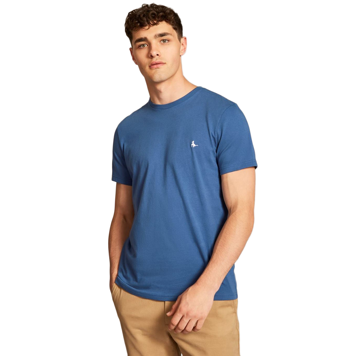 Jack Wills Men's Sandleford Short-Sleeve Tee - Blue, M