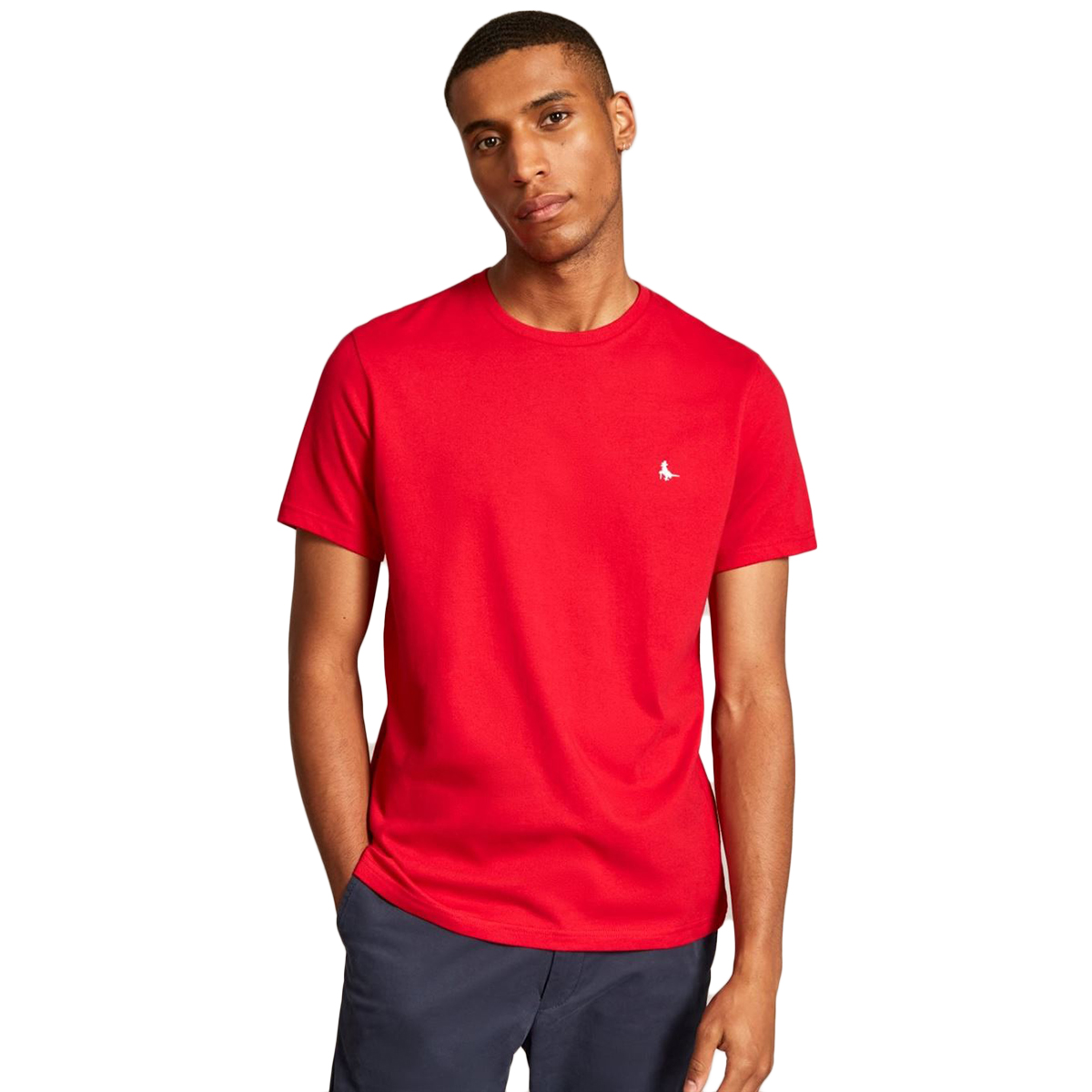 Jack Wills Men's Sandleford Short-Sleeve Tee - Red, XS