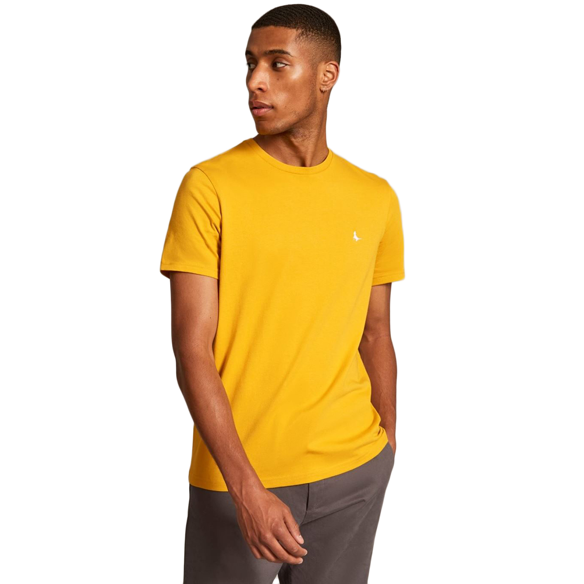 Jack Wills Men's Sandleford Short-Sleeve Tee - Yellow, M