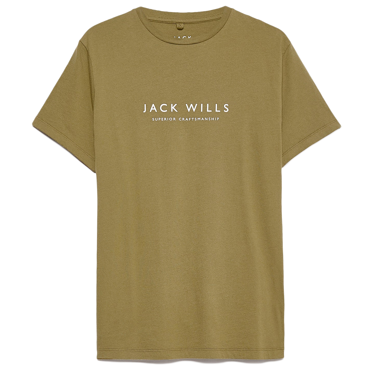 Jack Wills Men's Short-Sleeve Westmore Color-Block Tee - Green, L