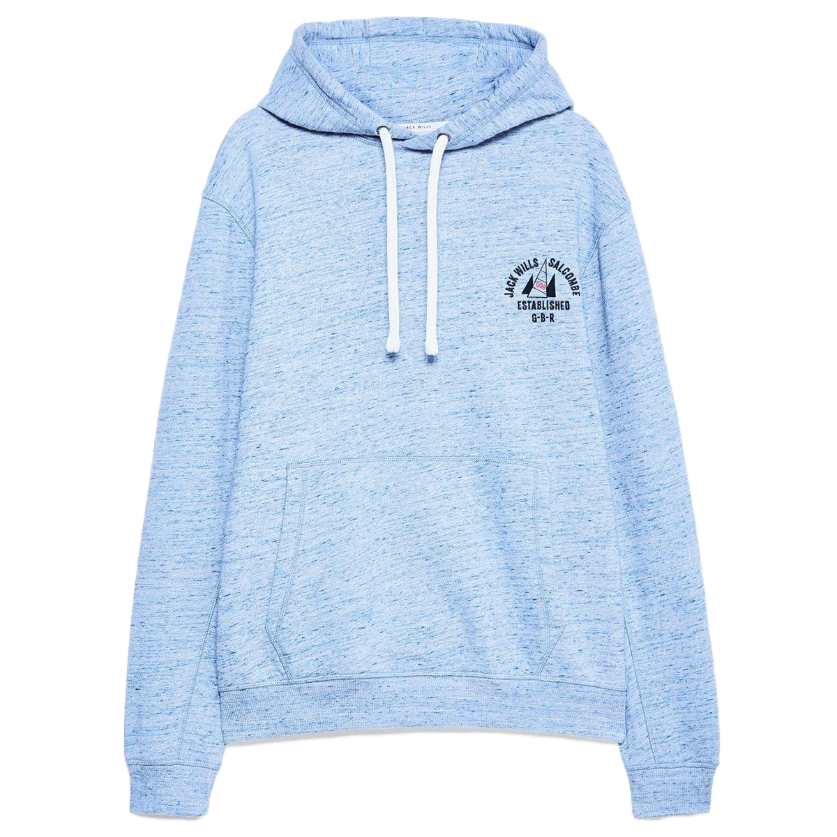 Jack Wills Men's Balham Fleck Graphic Hoodie - Blue, M