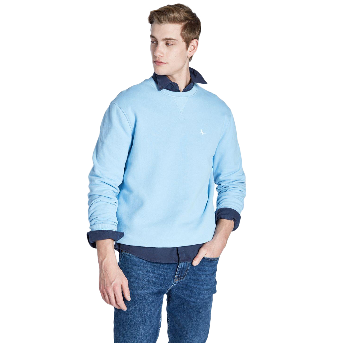 Jack Wills Men's Belvue Pheasant Sweatshirt - Blue, L