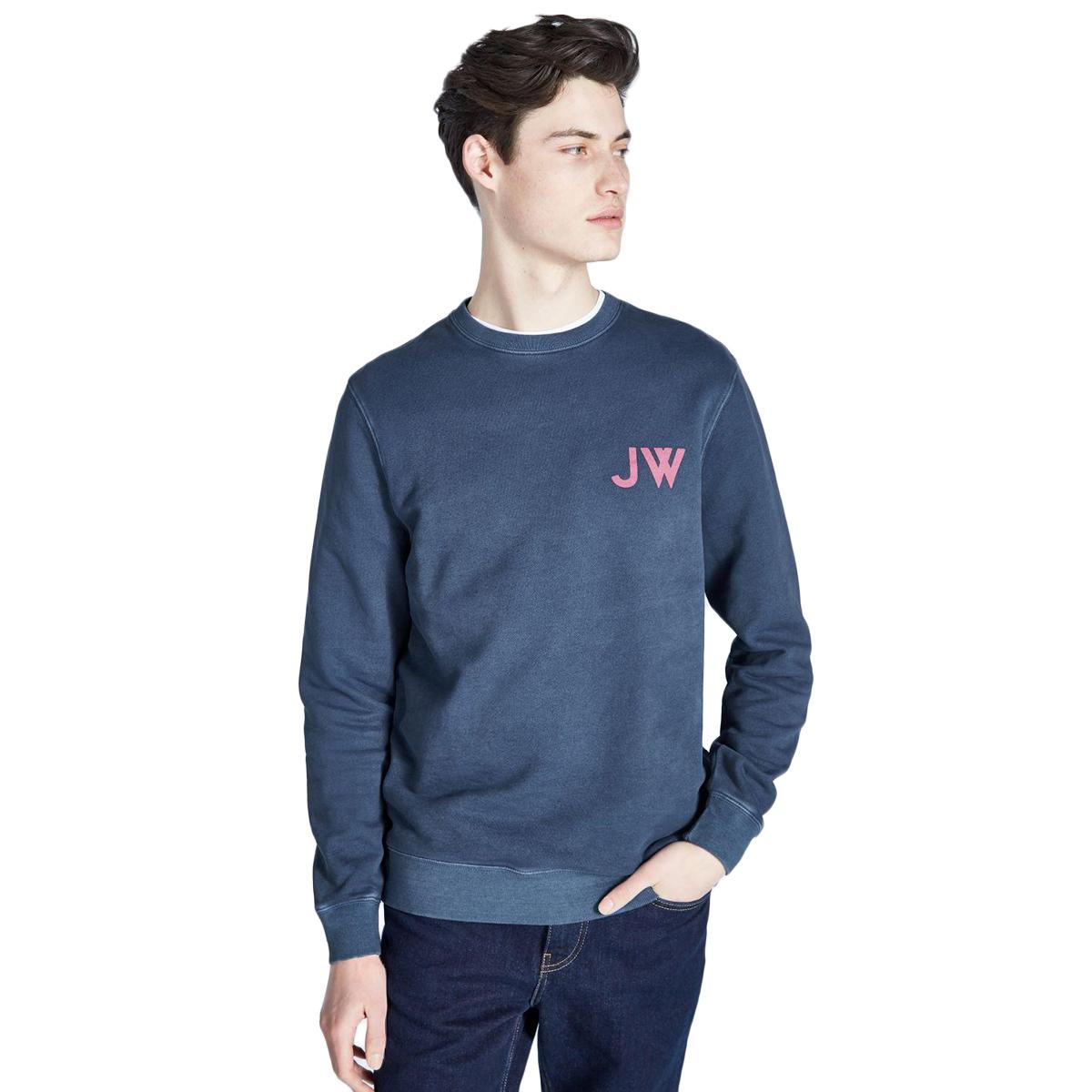Jack Wills Men's Fairford Graphic Sweatshirt - Black, L