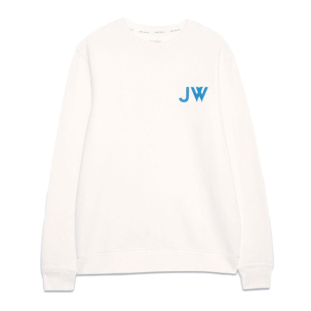 Jack Wills Men's Fairford Graphic Sweatshirt - White, L