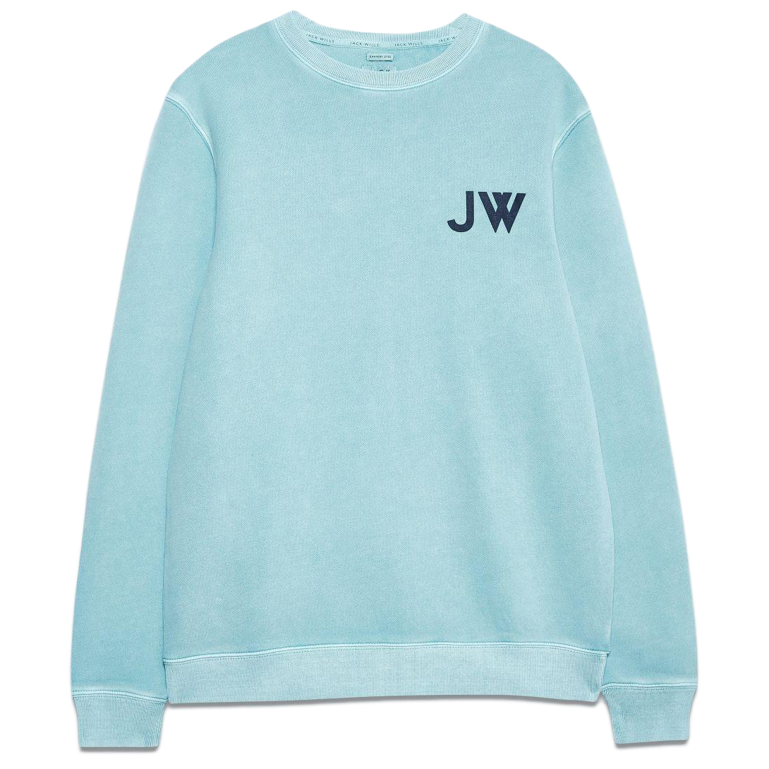 Jack Wills Men's Fairford Graphic Sweatshirt - Blue, S