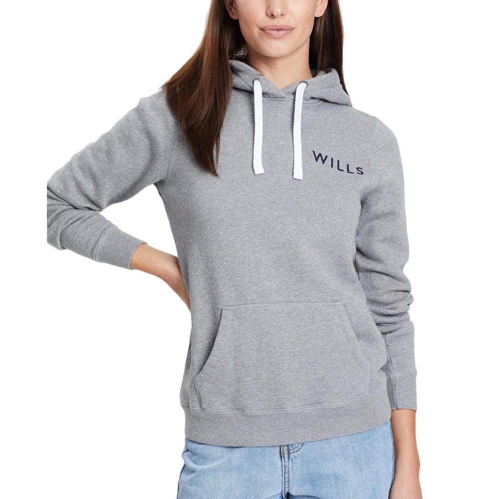 Jack Wills Women's Hunston Logo Hoodie - Black, 10