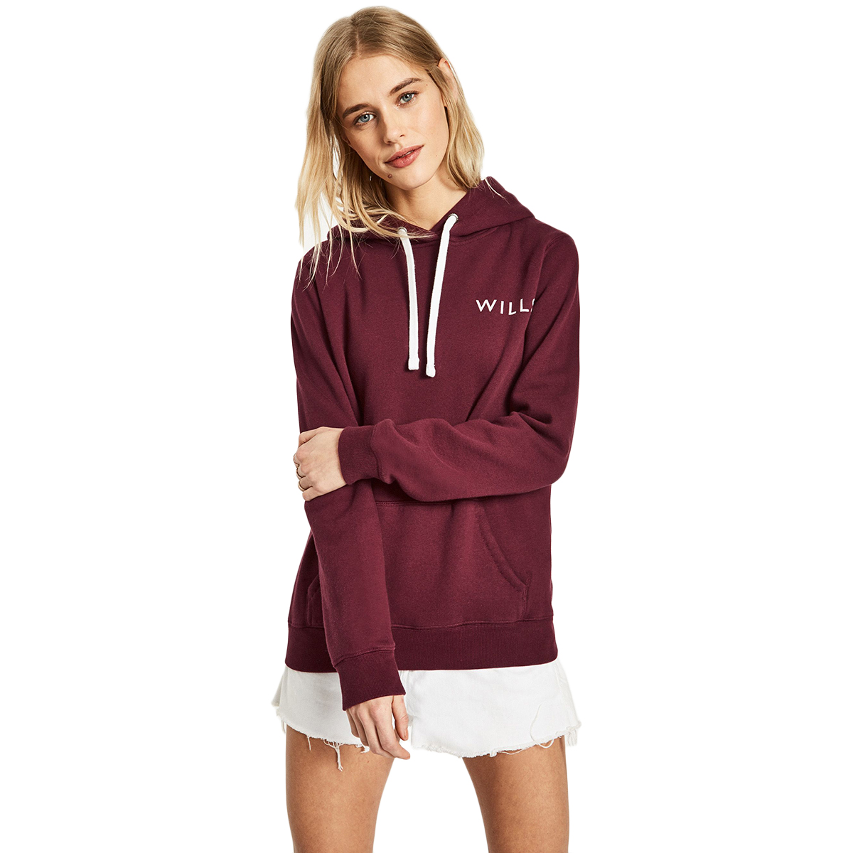 Jack Wills Women's Hunston Logo Hoodie - Red, 10