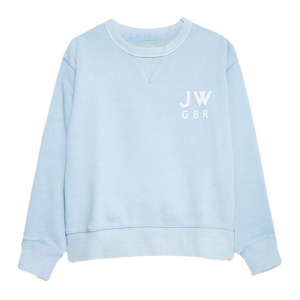 Jack Wills Women's Wills Kempson Garment Dye Cropped Crewneck Sweatshirt - Blue, 10