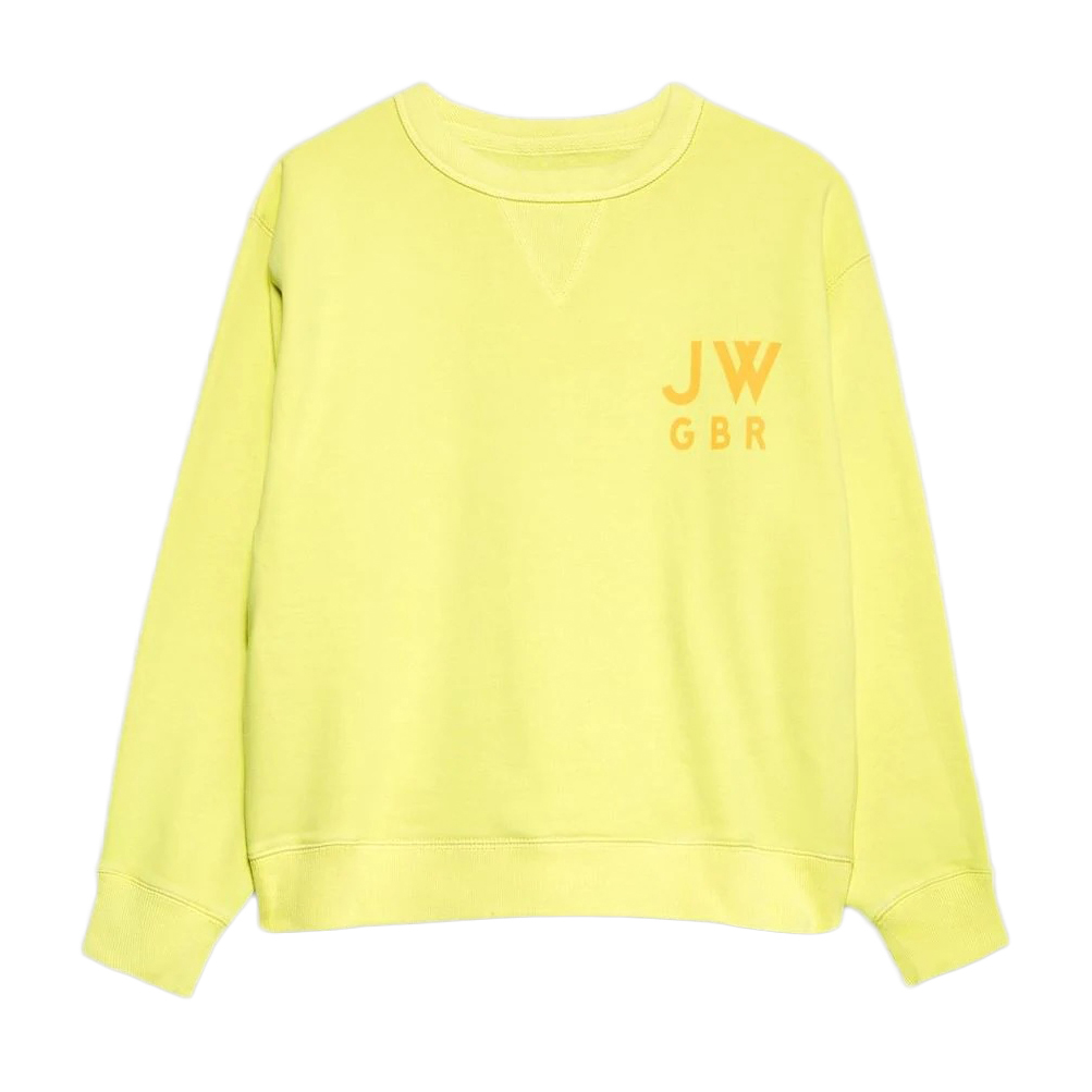 Jack Wills Women's Wills Kempson Garment Dye Cropped Crewneck Sweatshirt - Yellow, 4